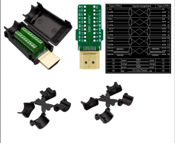 Conector HDMI con terminales