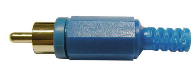 CONNECTOR RCA MASCLE BLAU
