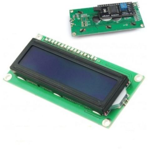 DISPLAY IIC/12C LCD1602 FONS BLAU AMB DRIVER ARD/F